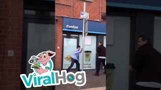 Angry Motorist Attacks Bus Lane Camera Car || ViralHog