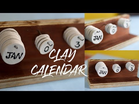 DIY DESK CLAY CALENDAR   SUPER EASY CLAY CALENDAR  