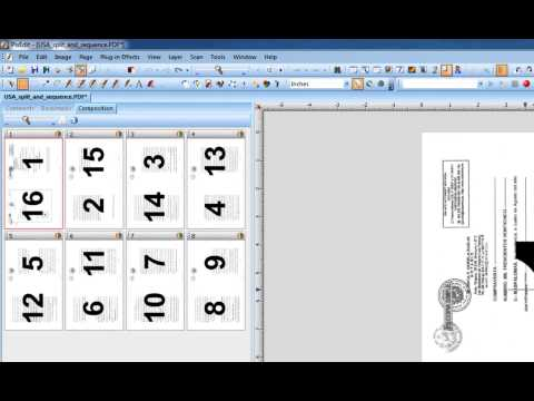 13 How to rotate, split and collate PDF and TIFF booklets in PixEdit Scanning Program, Pre-press.