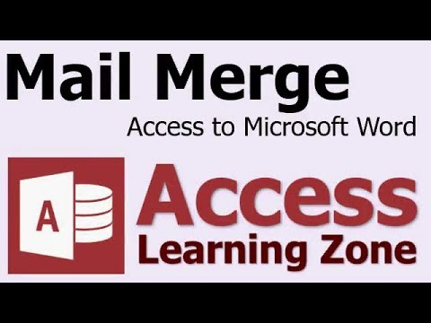 Mail Merge Microsoft Access Data into Microsoft Word Documents