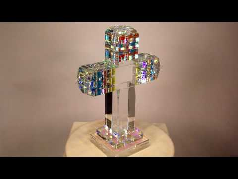 Trinity Cross Custom Commission - Glass Sculpture by Jack Storms