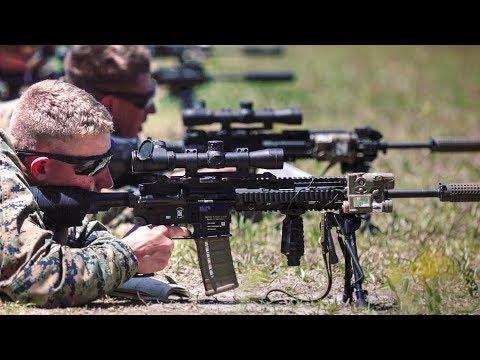 Marines Train On The New M38 Marksman Rifle