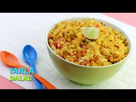 Power Poha for Kids, Breakfast Poha by Tarla Dalal