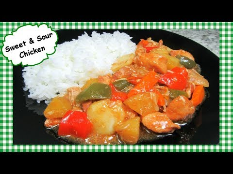 Slow Cooker Sweet and Sour Chicken ~ Crock Pot Chicken Recipe ~ Whip It Up Wednesday Collab!