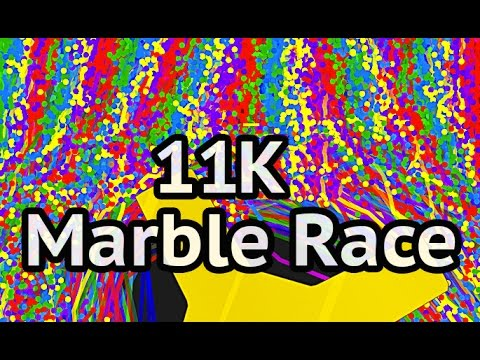 11000 Marble Race - Colorful Marble Drop - Algodoo