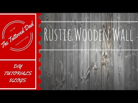 DIY RUSTIC WOODEN WALL