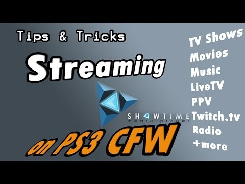 Streaming with Showtime on CFW PS3