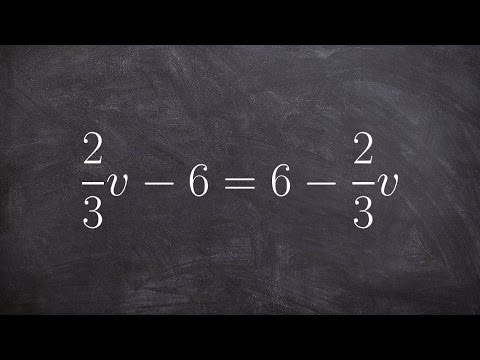 How to solve a multi step equation with fractions