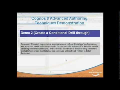 IBM Cognos Report Studio: Conditional Drill-Through