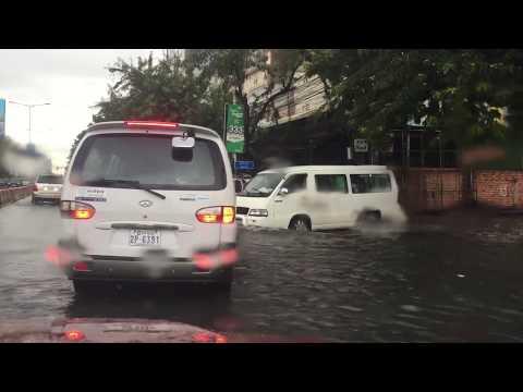 Flood after rain in Phnom Penh