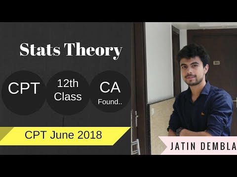 Basic Stats Theory Video for CPT | Stats Theory for CA Foundation By Jatin Dembla