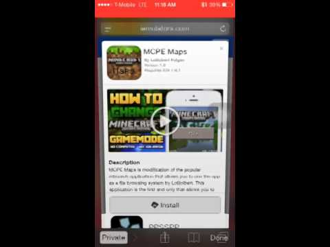 How to download MCPE Maps No Jailbreak or Computer