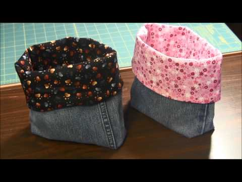 How to Make A Lined Recycled Denim Jeans Bag