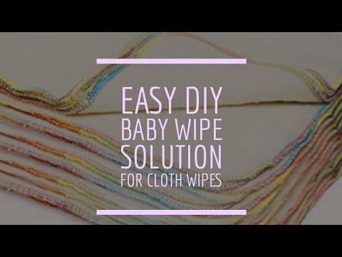 EASY DIY Homemade Baby Wipe Solution