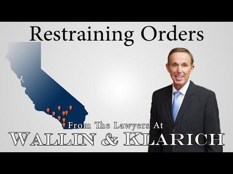 Criminal Protective & Civil Restraining Orders in California