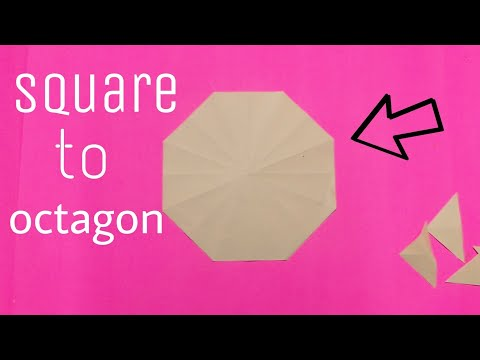 cutting Octagon from a square