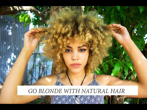 How To Go Blonde Fast With Natural Hair (No Damage My Story)+Pictures