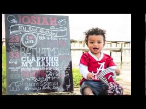 Custom Chalk Posters First Birthday Chalkboard Sign Promotional Video