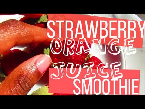 How to Make a Strawberry & Orange Juice Smoothie! l Quick & Easy