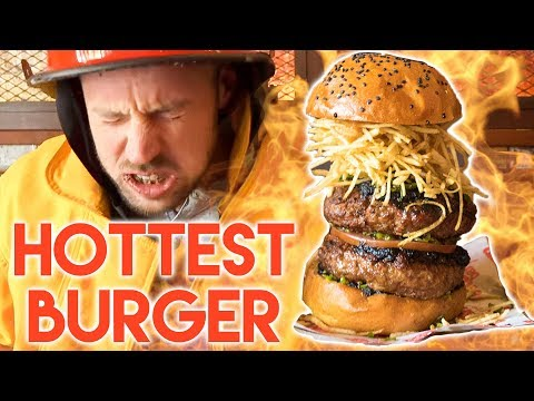 EATING THE WORLD'S SPICIEST BURGER | 50K SUBSCRIBERS CHALLENGE