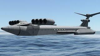 KSP: The Caspian Sea Monster (Ekranoplan)