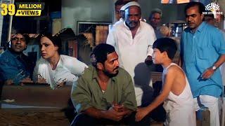Nana Patekar Motivated a Kid Comedy Fight Scene   Krantiveer Movie