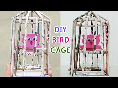 How to make Bird Cage | DIY Newspaper Crafts ideas