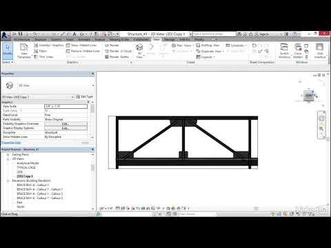 052 Creating a brace frame sheet