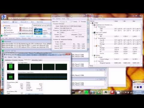 Intel Core i5 2450M Core CPU Temperature Stress Test Laptop