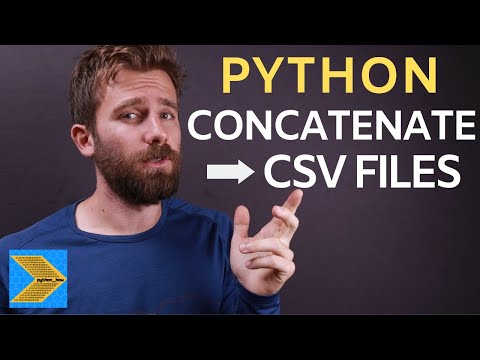 How to concatenate multiple CSV files in one single CSV with Python