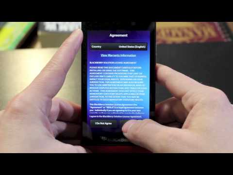 CNET How To - Set up your Blackberry Z10