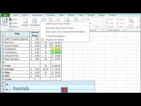 Excel Tip #009 - Customise Excel Show/Hide Worksheet Objects - Microsoft Excel 2010 2007 2013