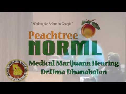 Dr. Uma Dhanabalan educates the Minority Cannabis Commission Nov. 10, 2015