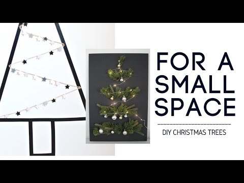 DIY CHRISTMAS TREE - DECOR FOR SMALL SPACES!