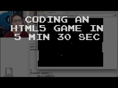 Coding an HTML5 Canvas Game with JS in 5 min 30 sec