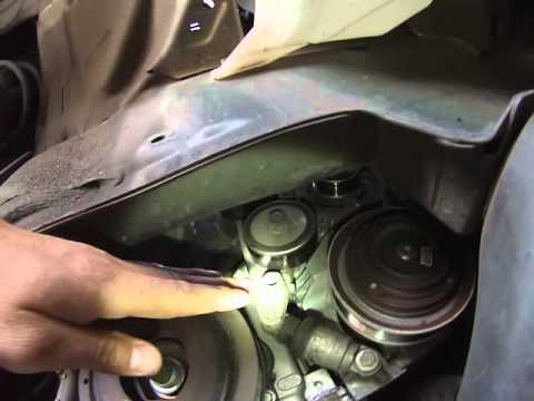 Honda Odyssey serpentine belt removal