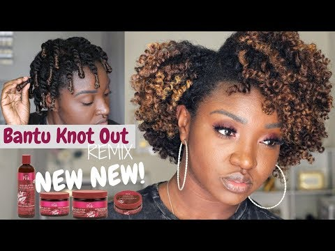 Bantu Knot Out REMIX | NEW Luster's Pink Shea Butter Coconut Oil Collection