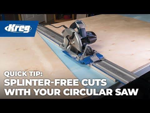 Kreg Accu-Cut™ Tip: Get Splinter-Free Cuts Every Time