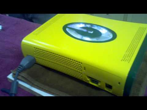 XBox 360 Green Bay Case Mod with LEDs