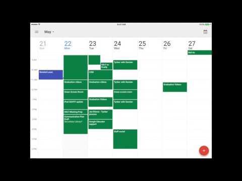 Calendar on the iPad