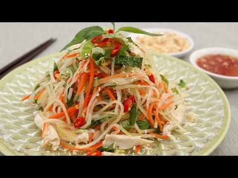 Kohlrabi Chicken Salad (Goi Su Hao Thit Ga)