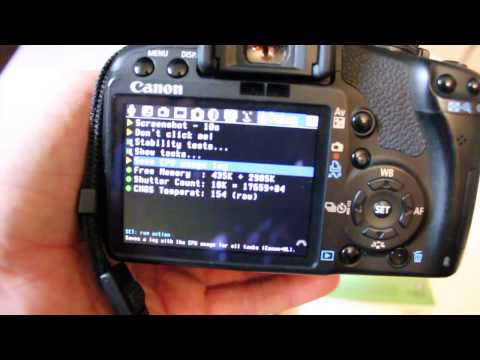 How to find shutter actuations Canon DSLR cameras T1i 500D t2i t3i Magic Lantern