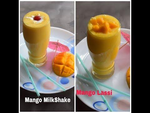Mango Milkshake/Mango Lassi Recipe | Summer Special 2 Types Of Fresh Mango Drink Recipe #348