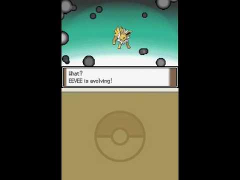 Pokemon Platinum Eevee evolutions