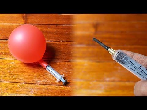 How to Make a Syringe Air Pump balloon Machine   Flopcloud