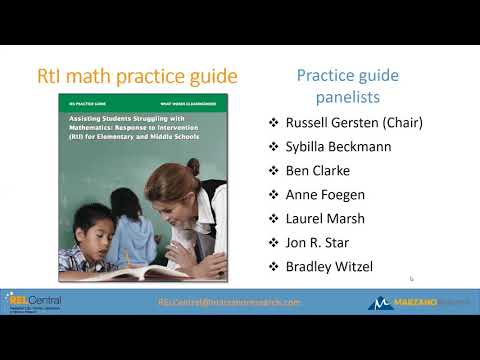 Webinar: Assisting Struggling Students with Mathematics