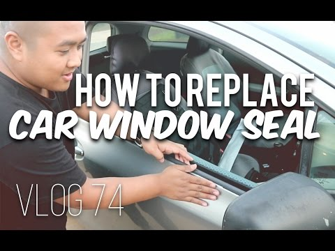 HOW TO REPLACE YOUR CAR WINDOW SEAL! (Vlog 74) 2007 Toyota Yaris