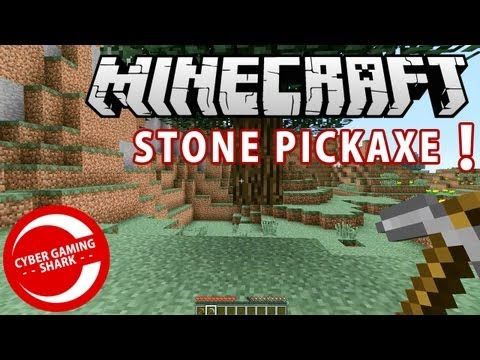 HOW TO MAKE STONE PICKAXE MINECRAFT