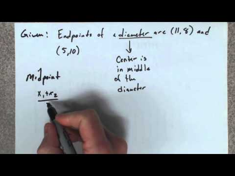 Given the endpoints of the diameter of a circle, find its equation.
