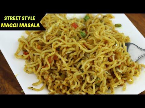 Masala Maggi Recipe   Maggi banane ki recipe in Hindi   Indian Street Style Veg Maggie Noodles  